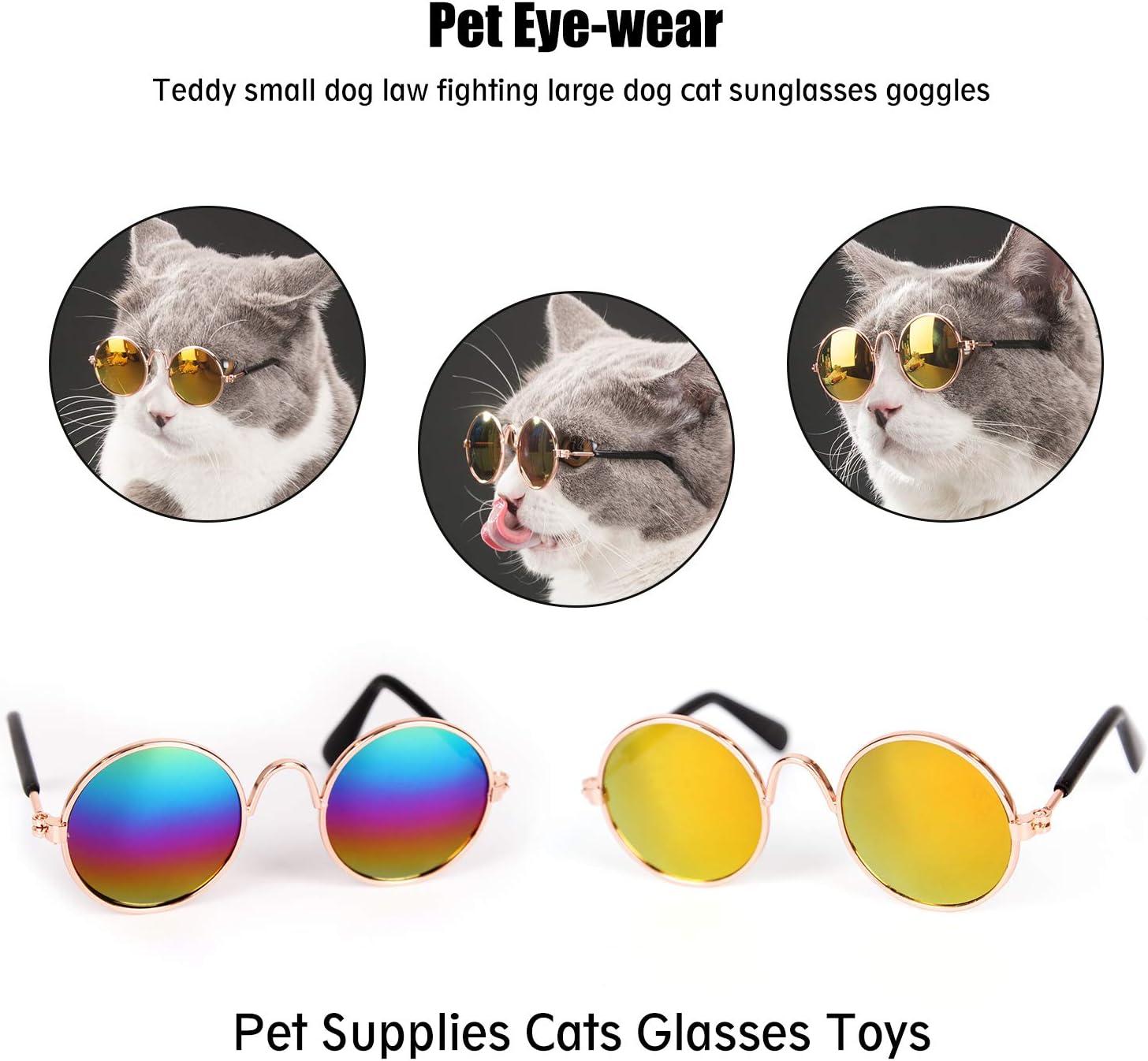 1 PC joli chat lunettes pour animaux de compagnie chien lunettes produits pour animaux de compagnie pour petit chien chat oeil porter chien lunettes