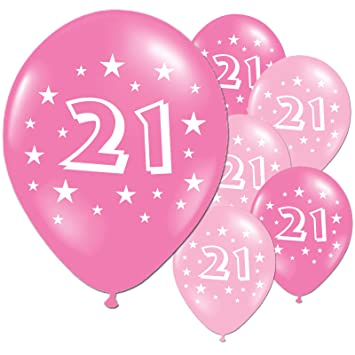 20 Fuschia And Pink 21st Birthday Party Balloons