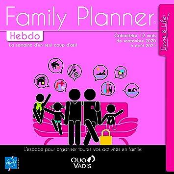QUO VADIS   238225Q   1 Calendrier FAMILY PLANNER Hebdo   Sept