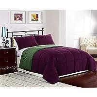 Cozy Beddings 3-Piece 88 by 88-Inch Reversible Down Alternative Comforter Set