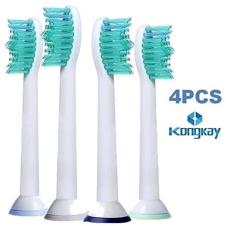 KongKay® cabezales para cepillos para Philips Sonicare HX6014 COMPATIBLES Results Pro, DiamondClean, FlexCare