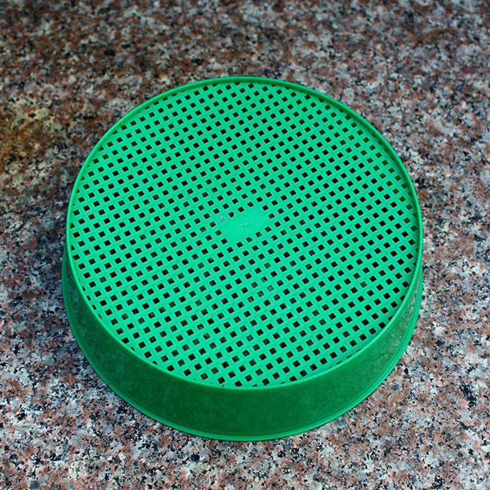 Sifting Pan Plastic Garden Sieve Riddle for Composy Soil Stone Mesh Gardening Tool