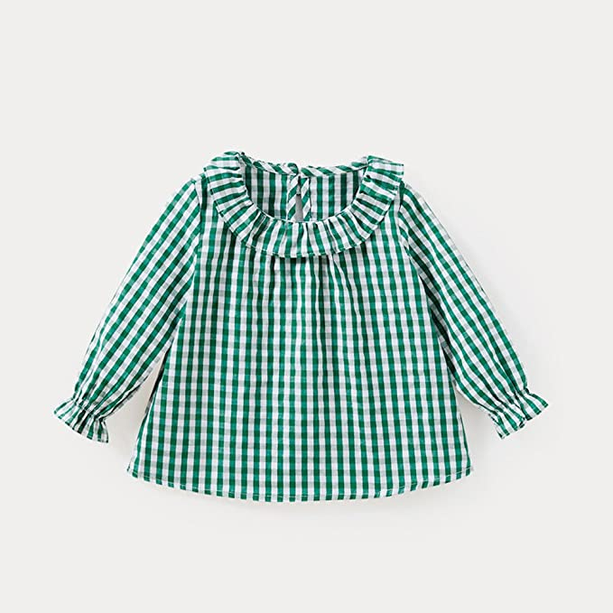 feiXIANG Black Five Cyber Monday Ropa para bebé Niño niña Bebé niña Muñeca de algodón Camisa a Cuadros Top Nueva Comodidad Top: Amazon.es: Electrónica