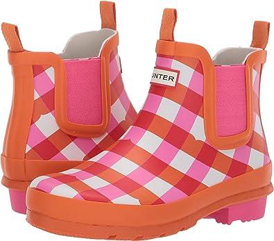 Big Kid Shoe Size To Women S.Hunter Kids Womens Original Chelsea Gingham Little Kid Big Kid