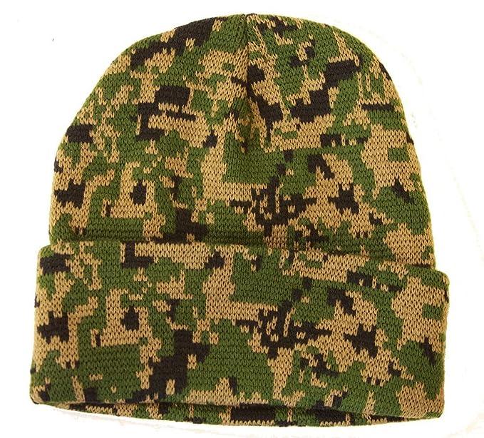03179acb51d Knit Woodland Digital Camo Cuff Long Beanie - Winter Wear Sports ...
