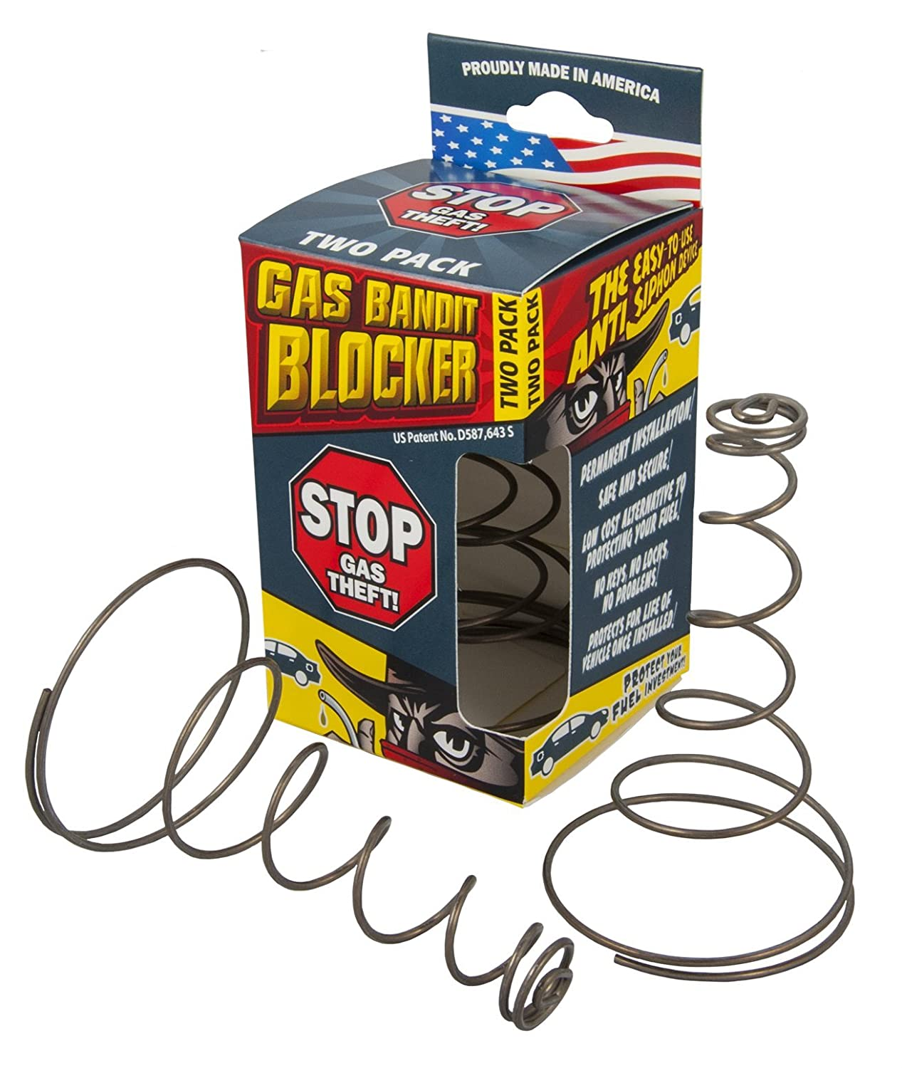 Stanco Gas Bandit Blocker - Fuel Anti-Siphon Device 2-Pack GBB-01