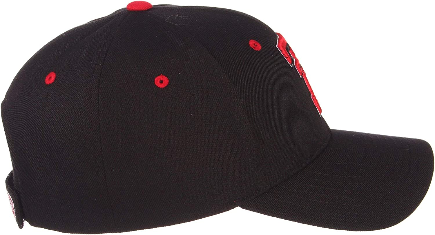 Texas Tech University Red Raiders Black Double T Competitor Top Adult Men//Womens Adjustable Baseball Cap//Hat