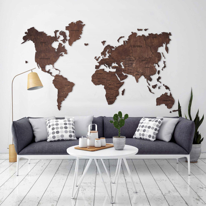 Amazoncom World Map Wall Art Large Travel Gift Idea Cork