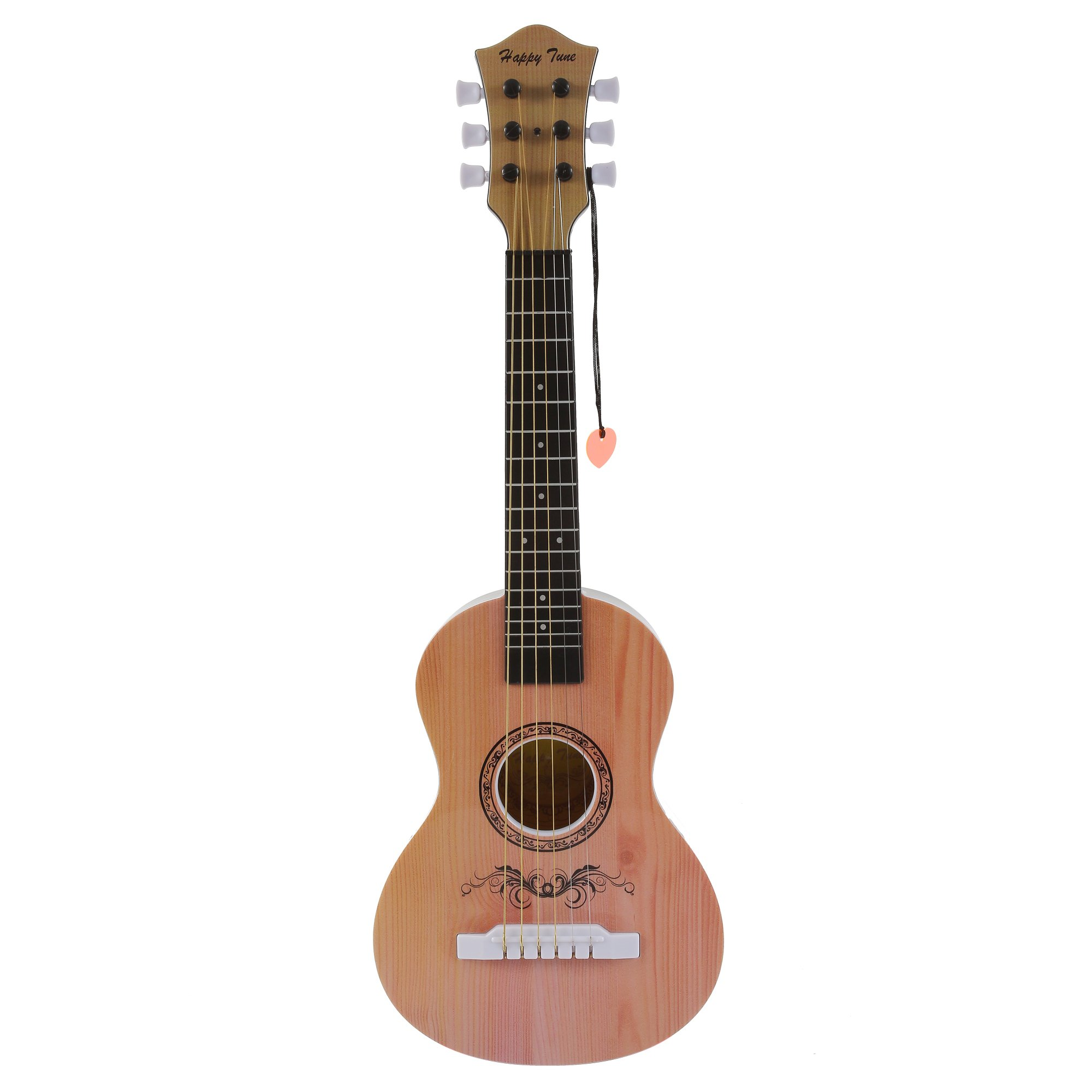 Liberty Imports Happy Tune 6 String Acoustic Guitar Toy for Kids with Vibrant Sounds and Tunable Strings (Natural) by Liberty Imports
