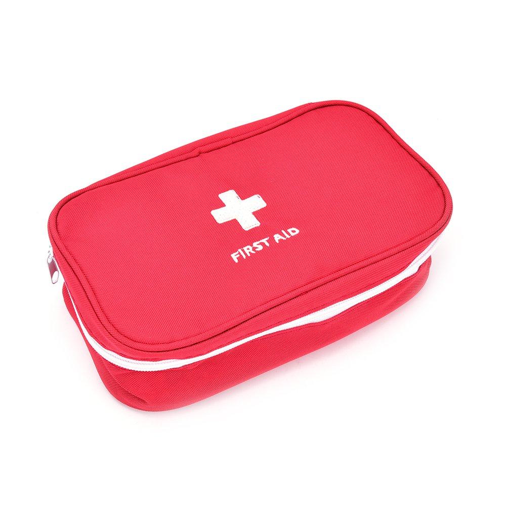 snnplapla First AidバッグアウトドアアドベンチャーBackpacker拡張車医療キットオーガナイザーUltralightシリーズ  レッド B073FGKQBK
