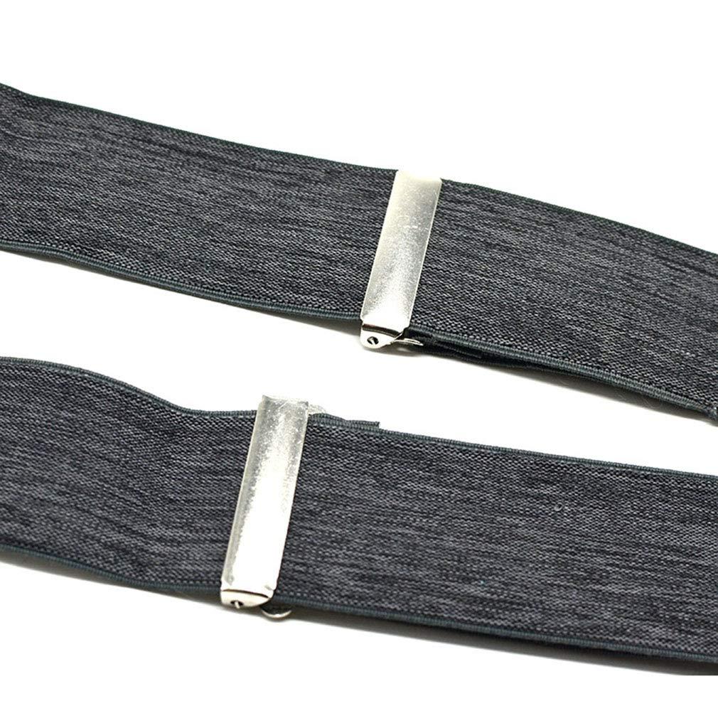 SupSuspen Mens Y Back Suspenders 1.9 In Width Heavy Duty Braces /& 4 Metal Clips