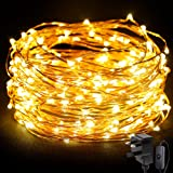 LE 20m 200 LED String Light Waterproof Copper Wire Fairy Starry Lights Warm White Garden Patio Party Valentine's Day Wedding Christmas Tree Outdoor Decoration