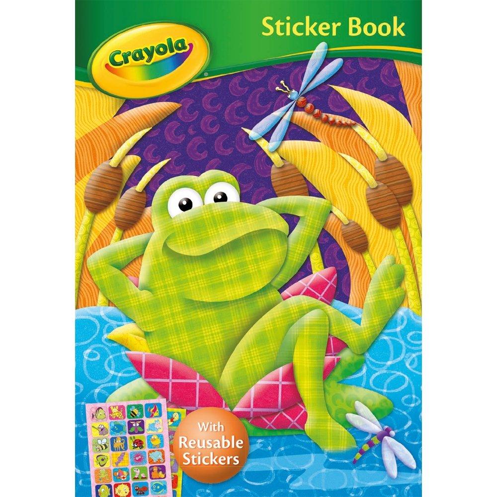 Crayola Aufkleber Buch mit Malbuch und wiederverwendbar Aufkleber ...