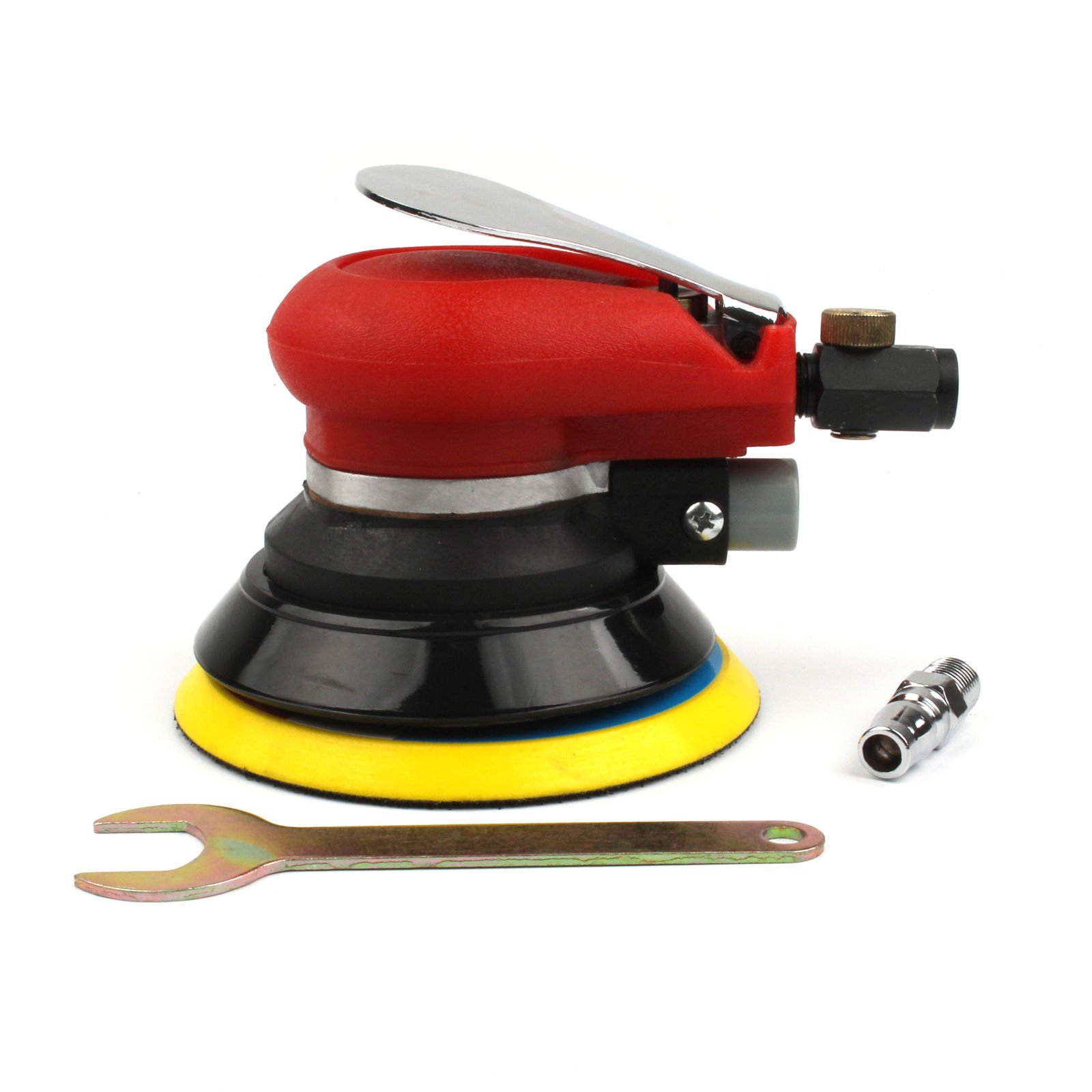 5''inch Professional Air Random Orbital Palm Sander, Dual Action Pneumatic Sander, Low Vibration, Heavy Duty