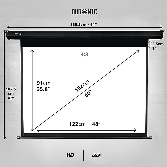 Duronic Projector Screen Eps60 Amazon Co Uk Electronics