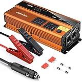 RUN STAR 1000W Power Inverter Car Plug Adapter Outlet 12V to 110V Dual 12V Cigarette Lighter DC to AC Converter 2.4A USB…