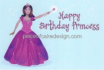 Amazon 2 Round Happy Birthday Princess African American