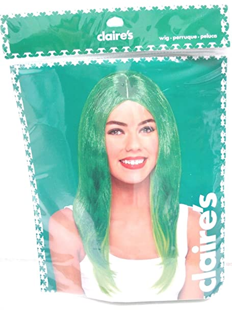 Claires Womens Halloween / St. Patricks Day Green Wig One Size