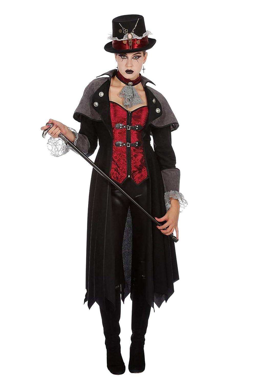 Wilbers Vampirkostüm Vampir Mantel Dracula Damen Kostüm Halloween Damenkostüm 36-48 Schwarz Grau 40 (L) B07HVRMN6C Kostüme für Erwachsene Kaufen Sie online  | Abrechnungspreis