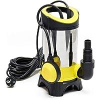 Bomba sumergible para aguas residuales 13000l/h, 750W, altura 9m, transporta partículas hasta Ø35mm
