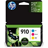 HP 910 | 3 Ink Cartridges | Cyan, Magenta, Yellow | Works with HP OfficeJet 8000 Series| 3YL58AN, 3YL59AN, 3YL60AN