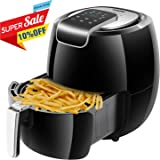 AUKUYEE Air fryer, Multi-Functional Hot Air fryer Oilless Cooker, Touch Screen Control, Dishwasher Safe, XL 5.6QT/1800W for Fast, Healthy & Oil-Free Cooking, Recipes (Black)