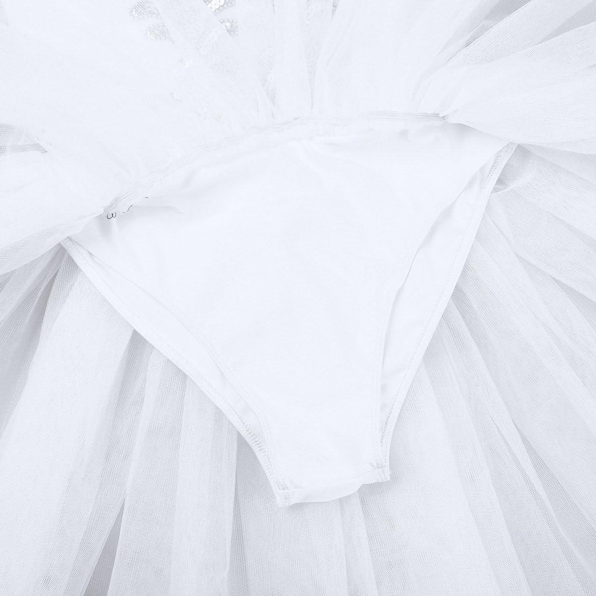 Agoky Womens Camisole Swan Lake Costumes Ballerina Dance Leotard Tutu Dress with Arm Band