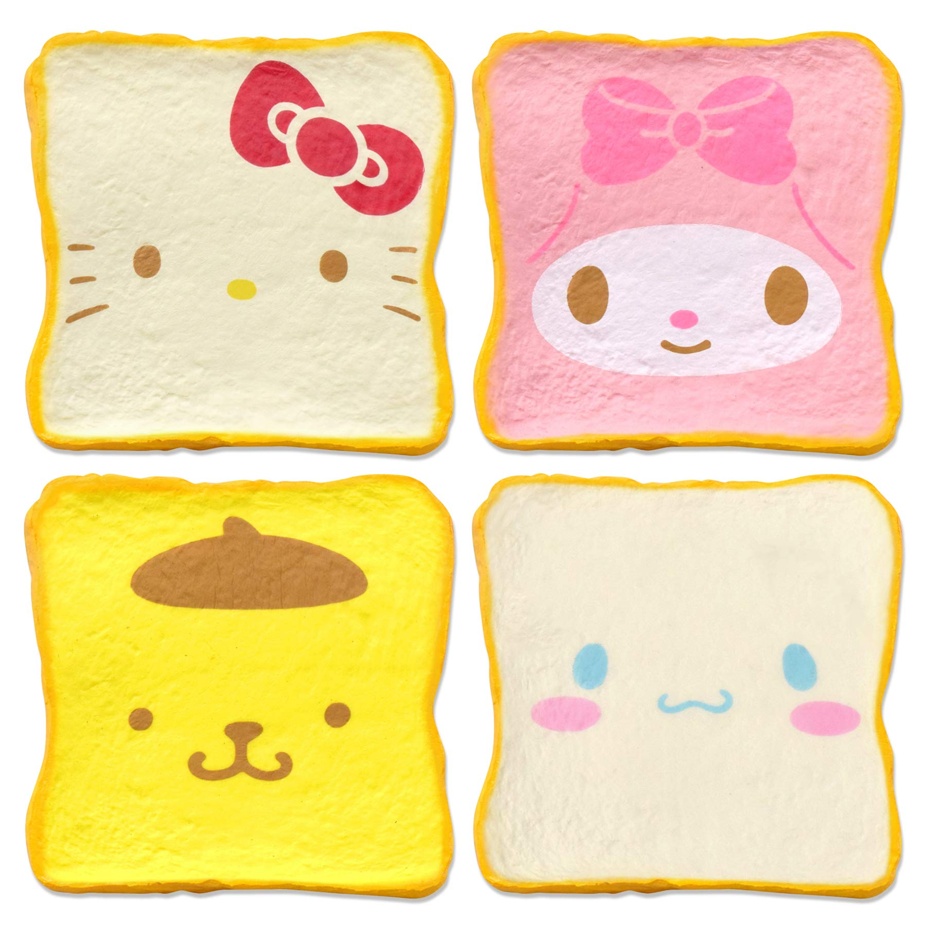 [Sanrio] Super Soft [Slow Rising] Aromatic Cute Milk Toast Squishy, Hello Kitty & Friends Set [4 Pieces] by Hamee