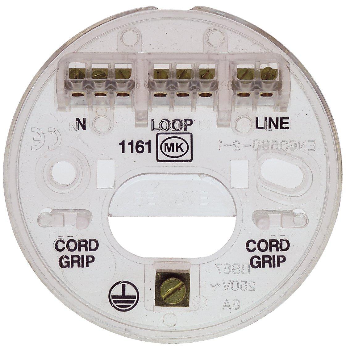 Mk K1161rpwhi Ceiling Rose 4 Terminal Incl Loop In Electrical Wiring Junction Further Flex Fifth Diy Tools