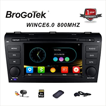 Amazon double din head unit navigation for mazda 3 2003 2009 double din head unit navigation for mazda 3 2003 2009 car stereo with dvd cd sciox Images