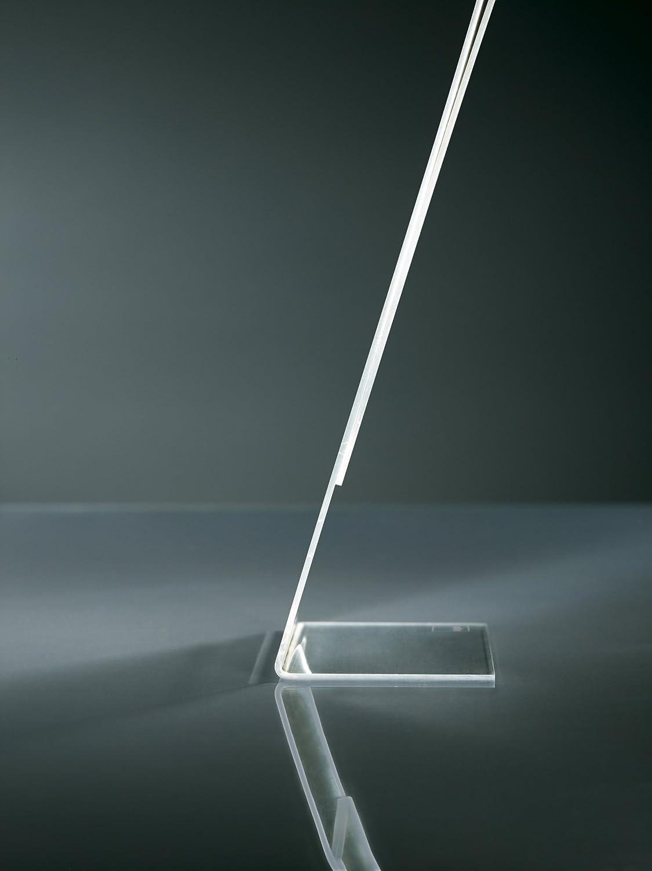 Sigel TA212 Porta-avvisi da tavolo // Porta-brochure da banco acrilico per A5 con base a L