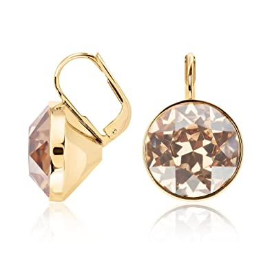 1b9b1f605 Image Unavailable. Image not available for. Color: Swarovski Bella Golden  Shadow Pierced Earrings