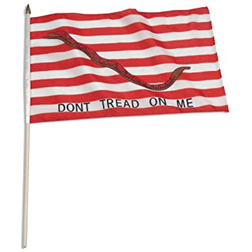 US Flag Store Don't Tread on Me 1st Navy Jack Flag, 12 by 18-Inch