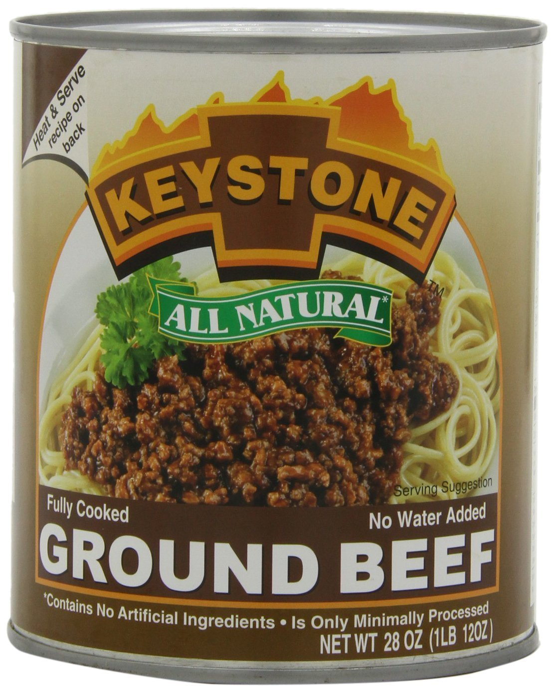 Keystone Meats All Natural Ground Beef, 28 Ounce - Pack of 3