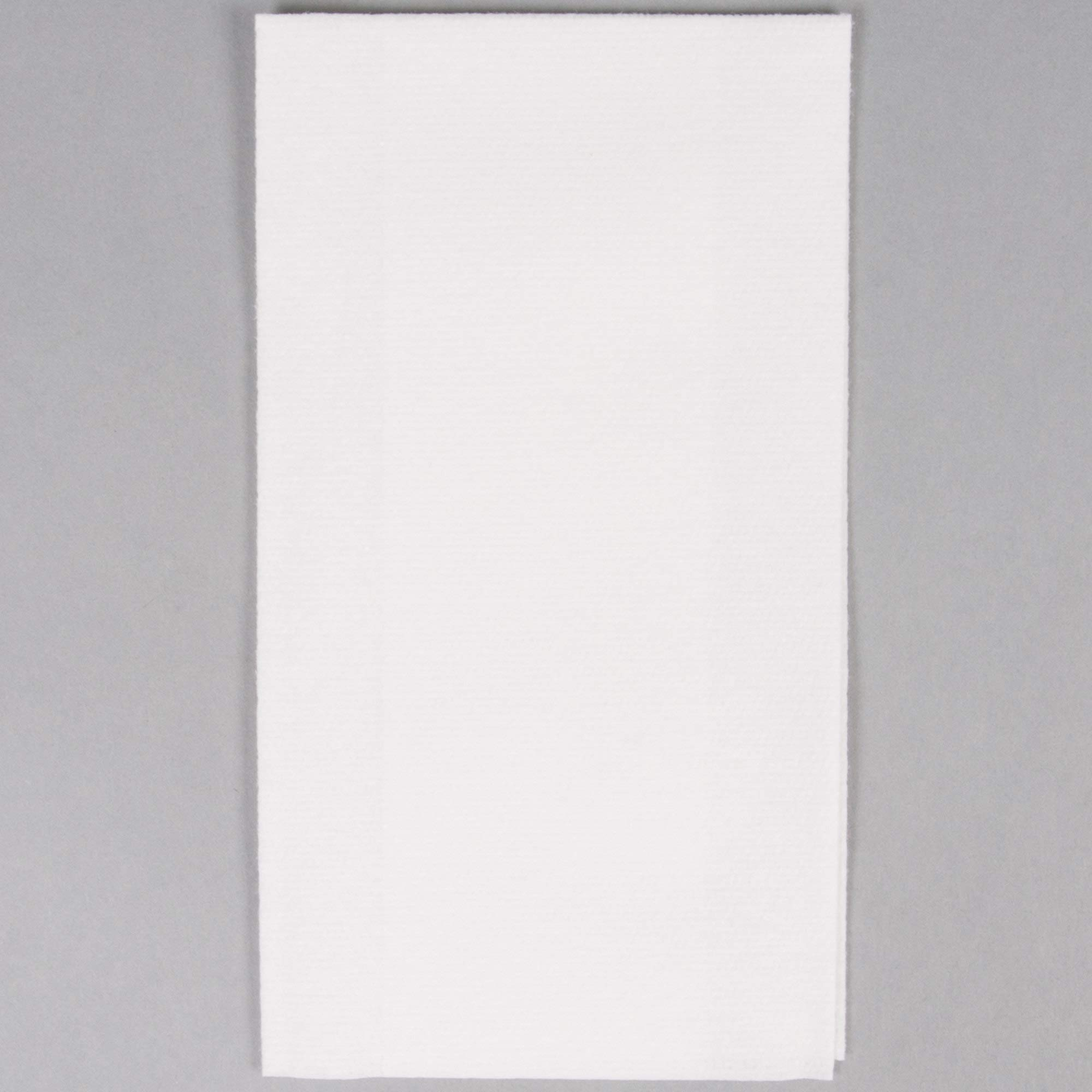TableTop King 856460 Linen-Like Select 12'' x 17'' White 1/6 Fold Guest Towel in Dispenser Box - 500/Case