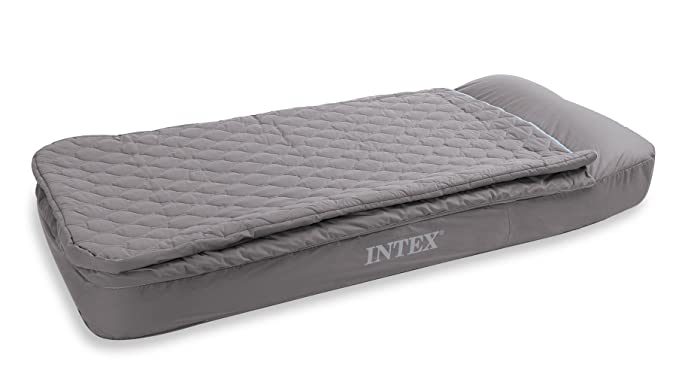 Intex - Colchón Hinchable de 1 Plaza con Saco de Dormir y Funda