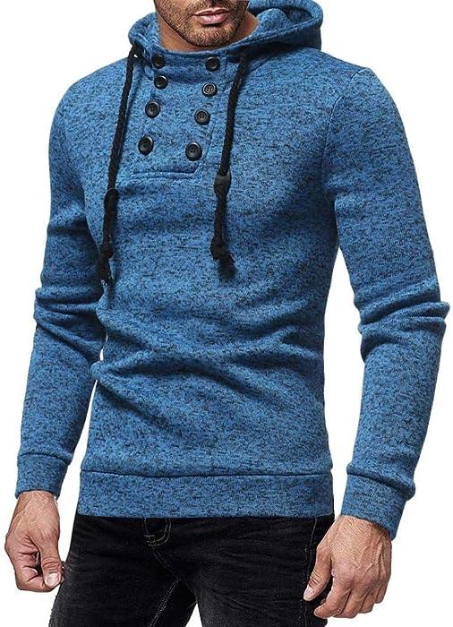 Yvelands Manga Larga suéter Cap de Moda de los Hombres con Capucha Trajes Casuales Sudadera Blusa Top Coat Invierno otoño Verano, Liquidación