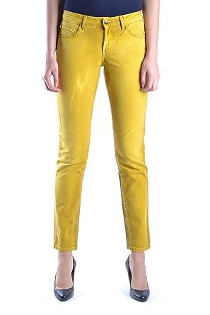 Just Cavalli Femme Mcbi170005o Jaune Coton Jeans  Amazon.fr ... 590754039ac