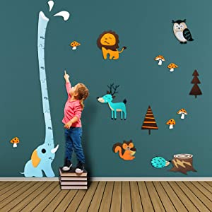 Felt Wild Animal Wall Stickers Decals for Baby Kids Nursery Room - Boys Girls 3D DIY Home Door Decor Art Murals Fox