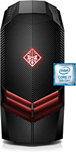 OMEN by HP Gaming Desktop Computer, Intel Core i7-9700K Processor, NVIDIA GeForce RTX 2070 8 GB, HyperX 16 GB RAM, 1 TB Hard Drive, 256 GB SSD, Windows 10 Home (880-160, Black)