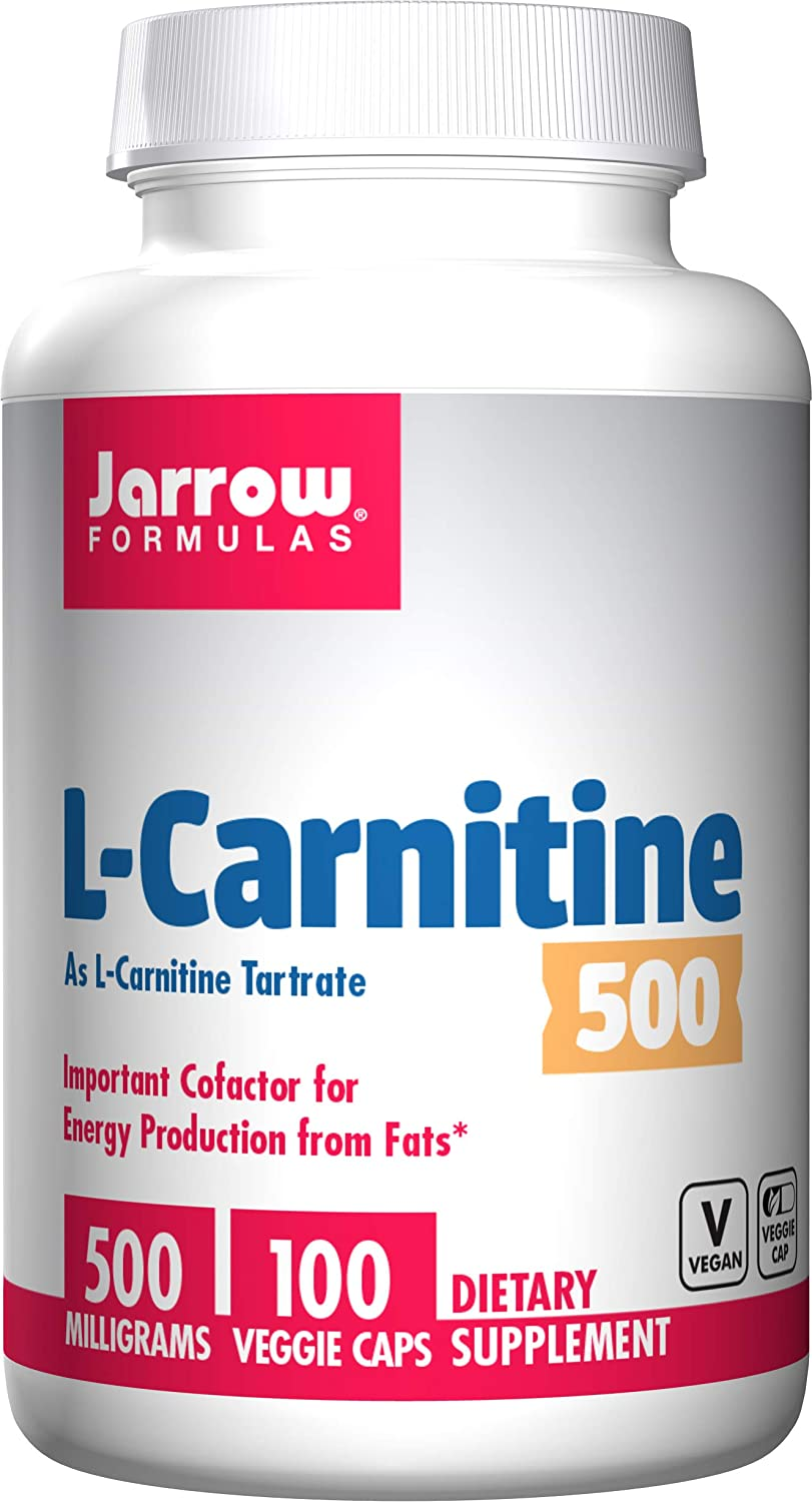 Jarrow Formulas L-Carnitine Tartrate, for Brain Energy and Heart Support, 500mg, 100 Capsules: Health & Personal Care