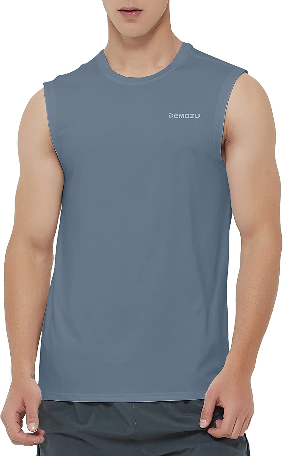 Leegor Mens Solid Sleeveless Quick Dry Tank Top for Outdoor Camping Training Vest Bodybuilding Sport Fitness T-Shirt