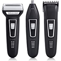 Shavers for Men,Bienna Electric Cordless USB Rechargeable [Waterproof Head] Hair Clippers Nose Ear Hair Trimmer with Pop Up Trimmer Grooming Set for Male Face Face Beard Sideburn Body
