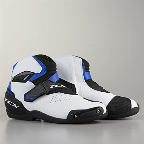 Zapatillas de Moto TCX Roadster Air 2 Negro-Blanco-Azul 44