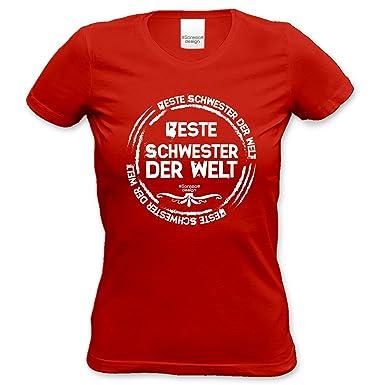 Beste Schwester der Welt Geschenk-Set : T-Shirt und Urkunde : Geschenkidee  Geburtstagsgeschenk