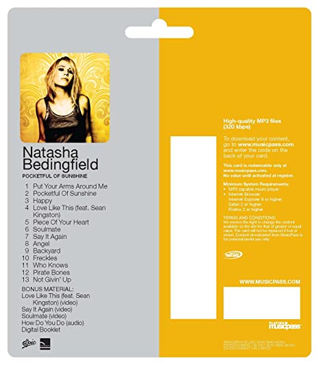Natasha bedingfield pocketful of sunshine amazon. Com music.