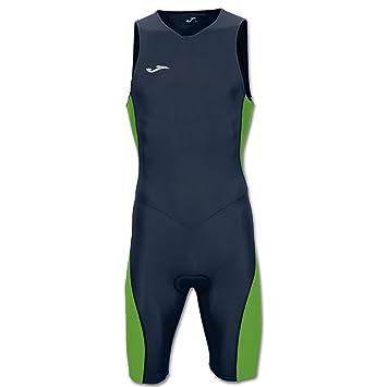 Joma Mono Triathlon Marino-Verde Fluor S/M - Mono de Ciclismo, Unisex, Azul - (Marino)
