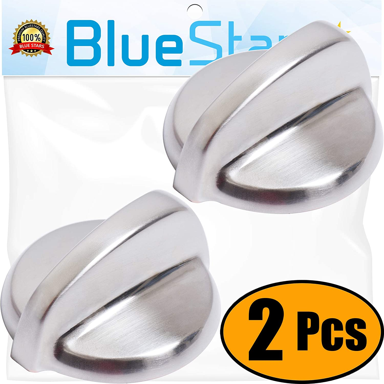 PACK OF 2 BlueStars Replaces AP3963896 WB03T10229 WB03T10256 Ultra Durable WB03T10266 Range Stove Knob Replacement Part by Blue Stars Exact Fit for GE Models