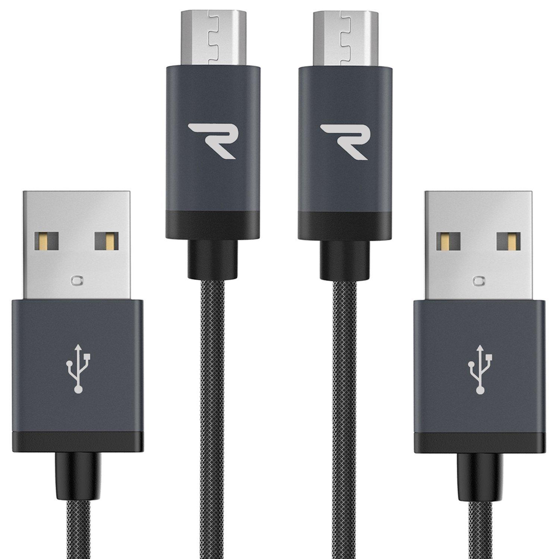 Micro USB Kabel Nylon 1m / 3,3ft - Rampow® 2,4A: Amazon.de ...