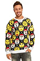 YOU LOOK UGLY TODAY Knitted Mens Christmas Sweater Ladies Jumper with Santa Reindeer Unisex Top